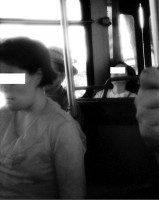 6. Passengers offer no help as the driver threatens the blind person.
