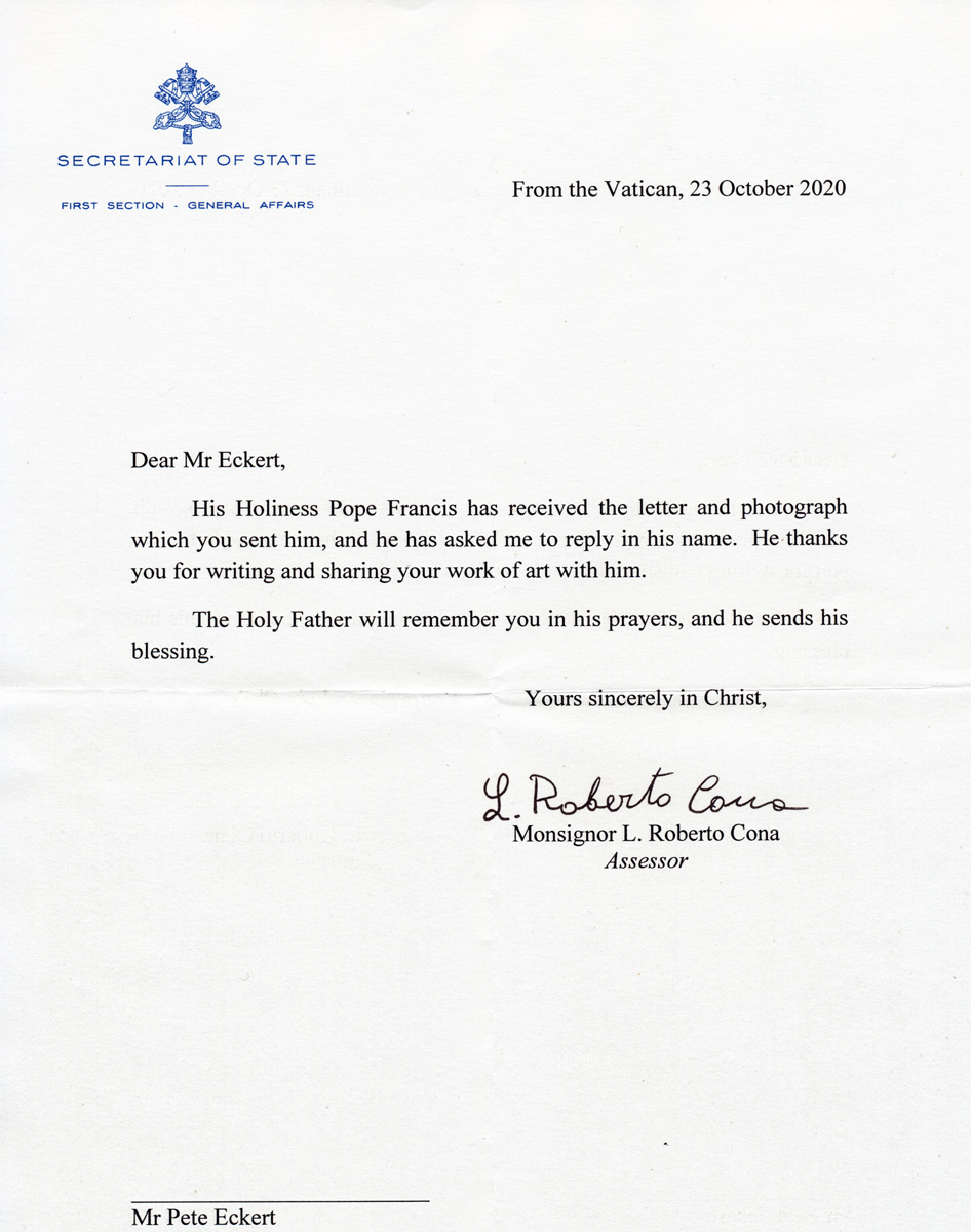 THE POPE'S REPLY